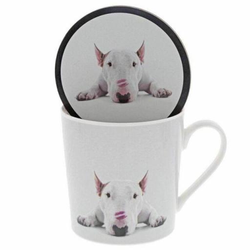 Jimmy The Bull Lipstick Kisses Dog Mug & Coaster Set