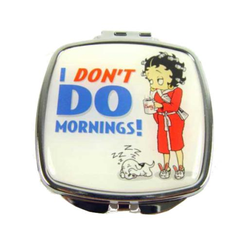 Betty Boop 'I don't do mornings!' Compact Mirror