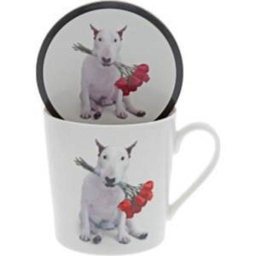 Jimmy the Bull Red Roses Mug & Coaster