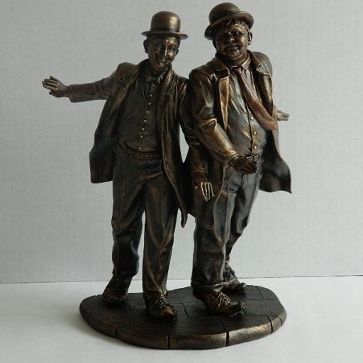 Bronze Laurel & Hardy Figurine