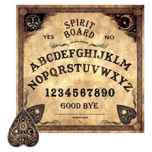 Spirit Board (NN) 38.5cm Antiqued Beige Spirit Talking Board with Planchette