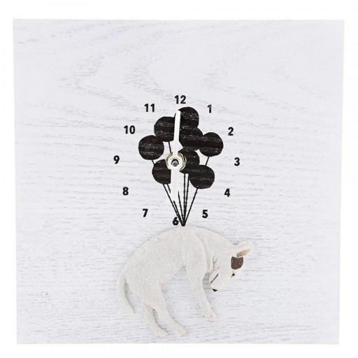 Jimmy The Bull - With Balloons Clock