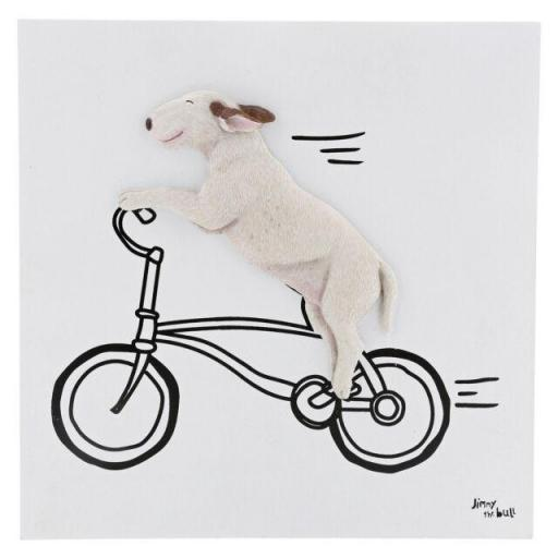 Jimmy the Bull Thats How He Rolls Wall Art English Bull Terrier Dog