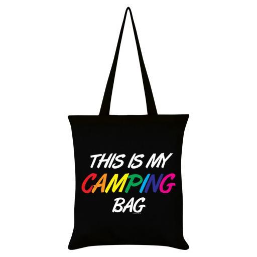 Pride This Is My Camping Bag Black Tote Bag