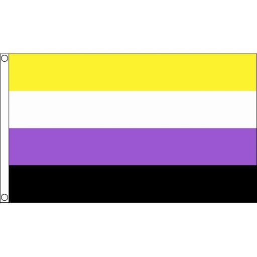 Non -Binary Flag 5ft x 3ft