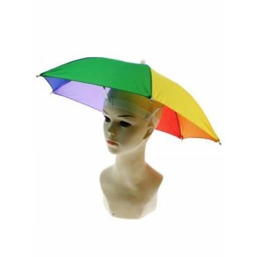 Multi Coloured Rainbow Umbrella