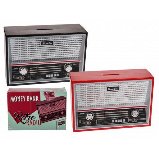Retro radio money box