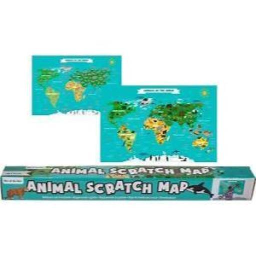 Animal Scratch Map