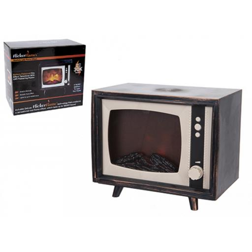 TV DESIGN MOVING FLAME FIREPLACE LANTERN