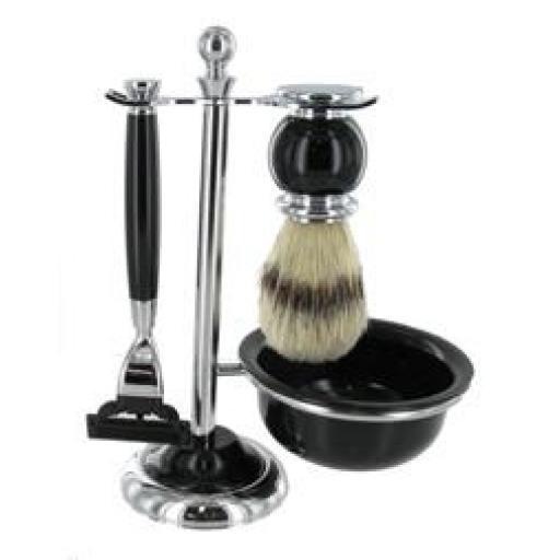 Mach 3 Shaving Set Bristle Brush With Bowl