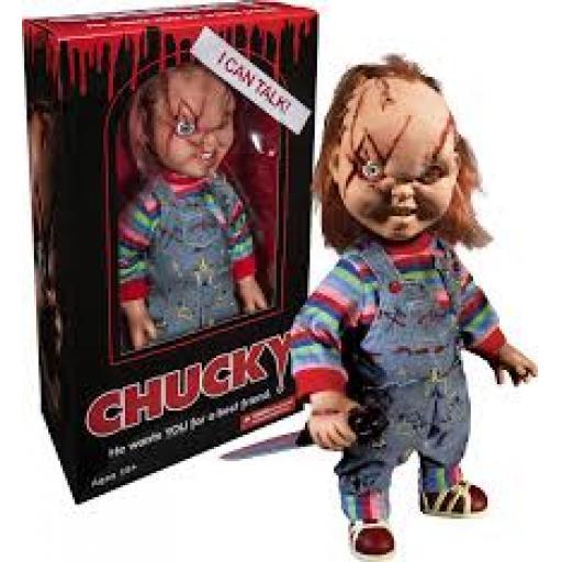 scared chucky 1/4 talking figure