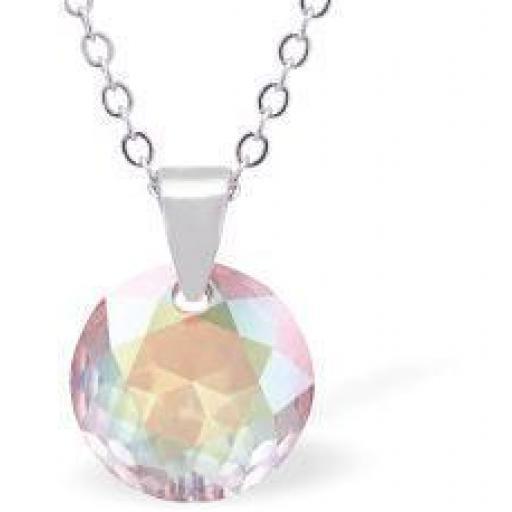 Swarovski Crystal Sparkling Round Aurore Borealis Necklace
