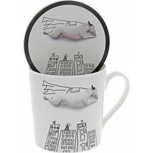 Jimmy The Bull Super Dog Mug & Coaster Set