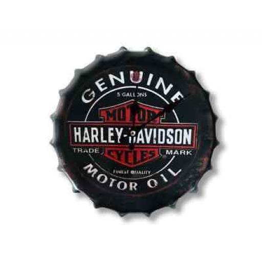 Harley Davidson Bottle Top Clock