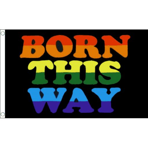 Born This WayFlag 5ft x 3ft