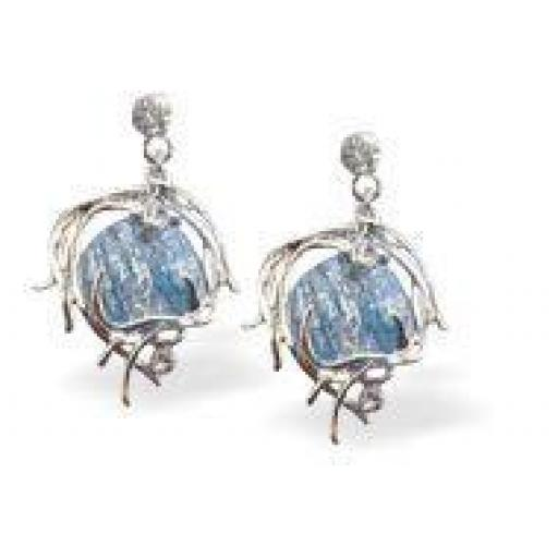 Designer Angelic Blue Haze Earrings