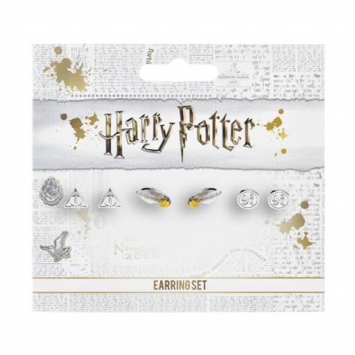 Harry Potter Stud Earring Set Snitch/ Deathly Hallows/ Platform 9 3/4-